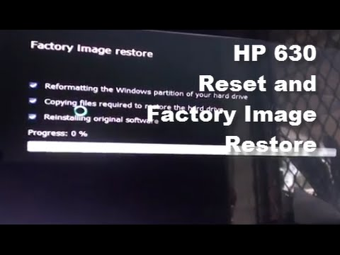 HP 630: How to Reset / Restore Laptop Back to Factory Default Settings