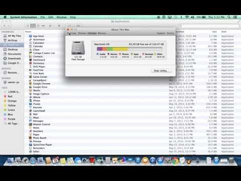 Hard drive space: How to see how much is left --  iMac, Mac Book Pro, Mac Book Air