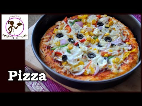 ইস্ট ছাড়াই প্যান পিঁজা তৈরী করার দুইটি উপায় - Pan Pizza Without Oven | Without Yeast Pizza Recipe