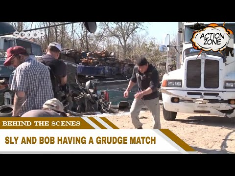 Behind The Scenes of  Grudge Match | Sly and Bob having a Grudge Match