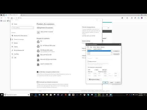 Printer TCP/IP Port Configuration in Windows 10 (HP Printer Restart Fix)