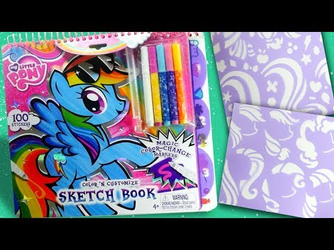 My little pony Color N' Customize Sketchbook MLP sticker activity book