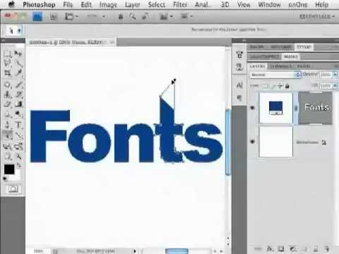 how to modify fonts in photoshop