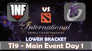 Infamous vs Keen Gaming | The International 2019 | Dota 2 TI9 LIVE | Lower Bracket | Main Event Day