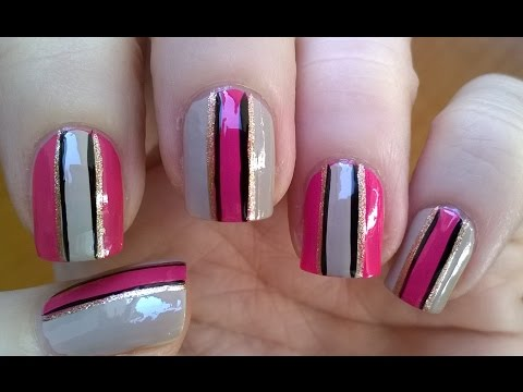 Easy nail art designs! #7 - DIY: Elegant STRIPED NAILS without tape