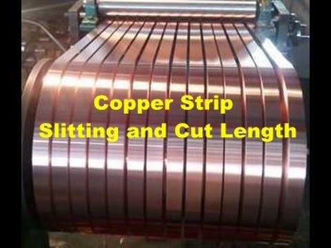 Copper Strip slitting  machine and cut length line Brass sheet shear
