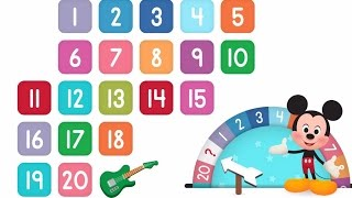 Learn Numbers Disney Buddies 123s   Kids Counting Numbers 1 to 20 by Disney