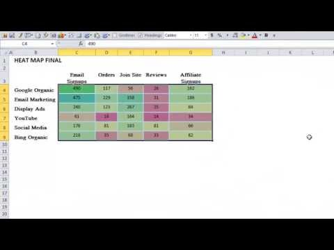 How To Create A Cool Heat Map In Excel