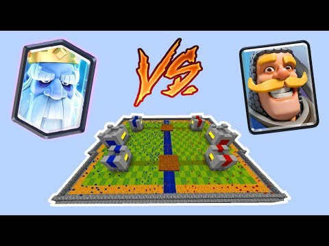 Minecraft CLAY SOLDIERS CLASH ROYALE! • Royale Ghost VS Knight!