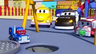 Carl der Super Truck und Der Klein Laster in Car City  Auto und Lastwagen Bau Cartoons (für Kinder)