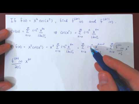 Maclaurin Series & Higher Derivatives