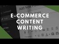 Content Writing for E-Commerce Sites (module 7)