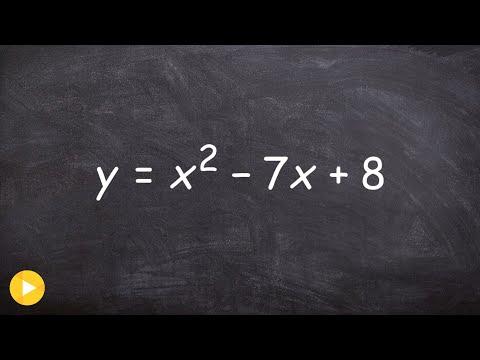 Graph a quadratic equation with vertex and line of symmetry
