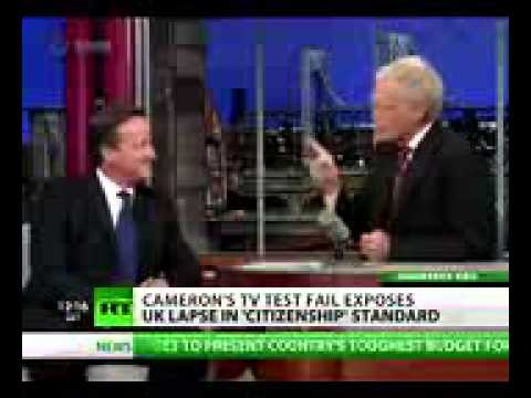 How to   Citizen Caned Cameron flunks UK 'citizenship test' on US TV show