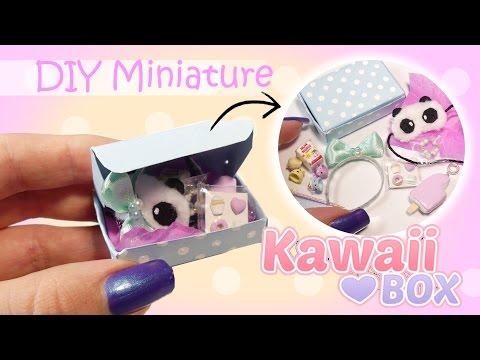 Miniature Kawaii Subscription Box Tutorial // DIY Dolls/Dollhouse