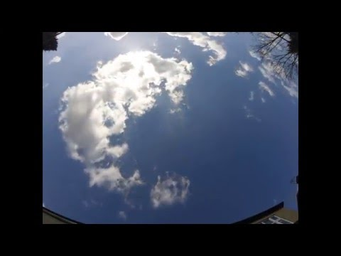 North London time lapse cloudy skies March 2016
