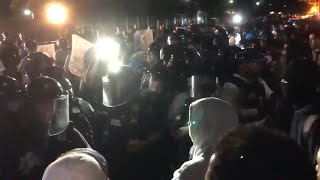 Violent clashes outside White House as hundreds voice anger at police killing | George Floyd protest