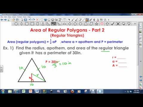 Area of Regular Polygons (Part 2) - Regular Triangles