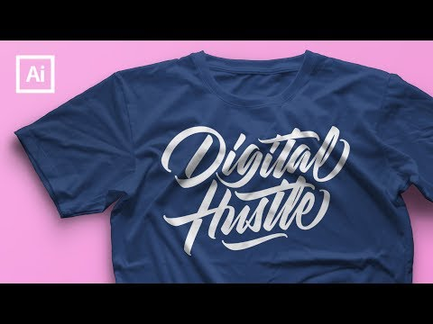 Lettering Speed Art - T-Shirt Design (Illustrator)