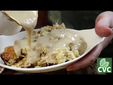Old Fashioned Chicken and Dressing from Scratch Recipe, Cornbread Dressing is Southern not stuffing!