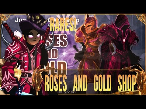 =AQW= Roses and Gold Rares Shop Review [With Commentary!]