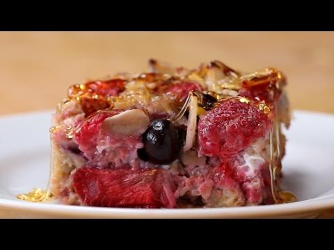 Berry Almond Oatmeal Bake