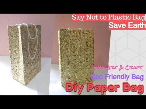 Diy Easy Paper Bag/ Handmade Paper Bag/Eco Friendly Paper Bag/Recycle Paper Bag