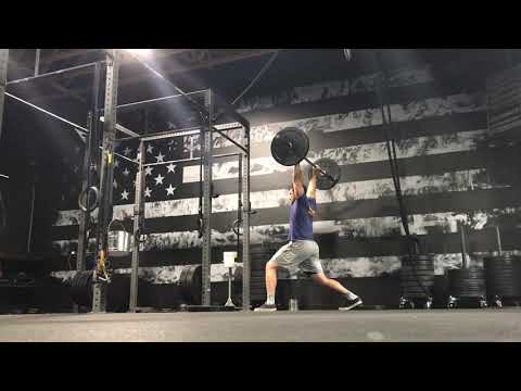 Behind the head split press with recovery