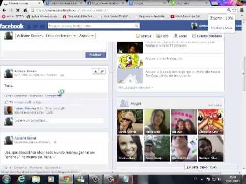 Como ganhar curtis no status do facebook e postar -via iphone 5-