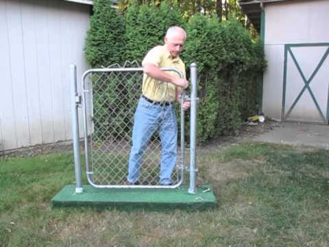 Gate Closer - Simple, effective closer for chain link gates. (It Works!)