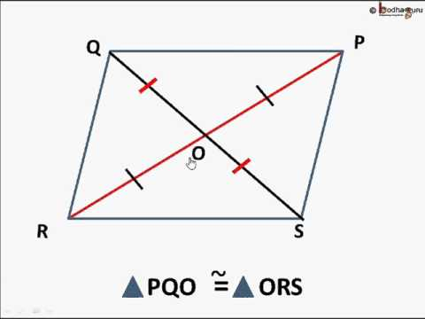 Maths - Diagonals of a parallelogram - English