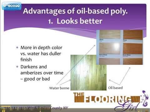 Oil vs water based polyurethane   Which is Better for Refinishing Hardwood   Part 1 - Oil based