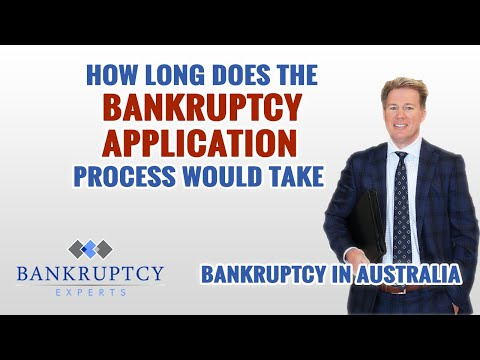 How long does an Australian Bankruptcy Application process take?