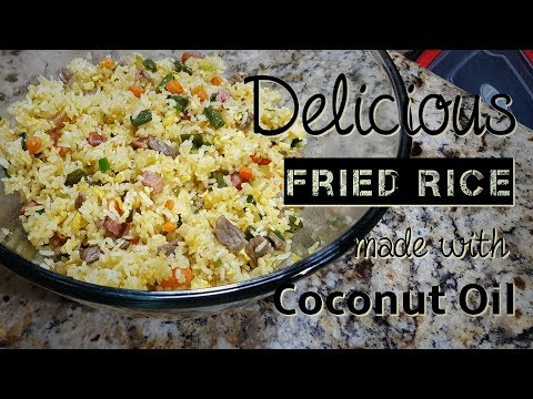 Delicious Fried Rice made with Coconut Oil