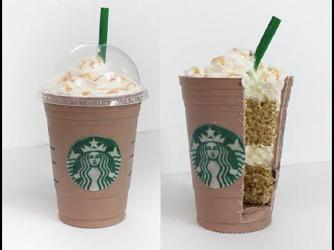 Starbucks Grande Caramel Frappuccino Cake Tutorial