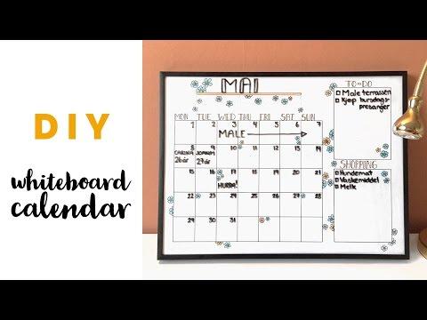 DIY: Easy whiteboard calendar