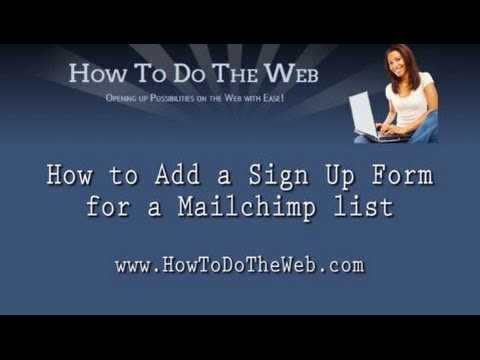 How to Add a Sign Up Form for a Mailchimp List
