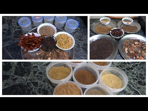My Monthly Indian  MASALA making routine|| making Indian spices at home|| How to make Indian spice.