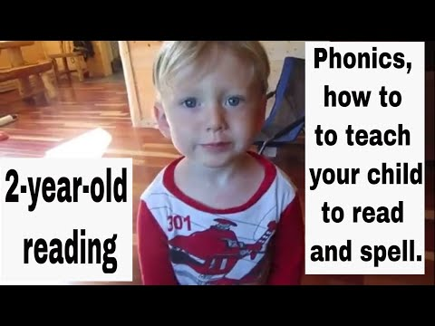 2 year old reading, Phonics, How to teach your child to read and spell
