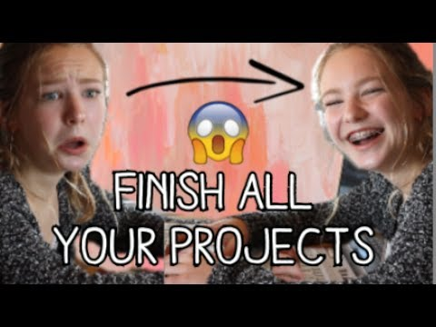 Finish All Your Projects In One Day! | Tips On How To Get Stuff Done!