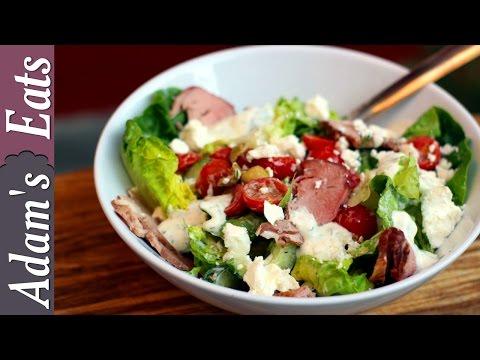 Leftover roast lamb Greek (ish) salad