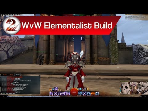 Guild Wars 2: World vs World Elementalist Build | Variants + WvW Elementalist Staff Build 2017