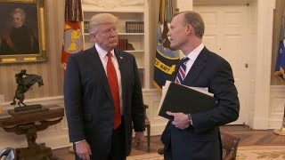 "President Trump talks ""bigness"" of the presidency"