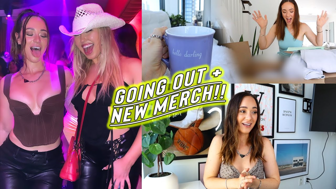 weekend vlog: going out, new merch, + tk's apartment!!