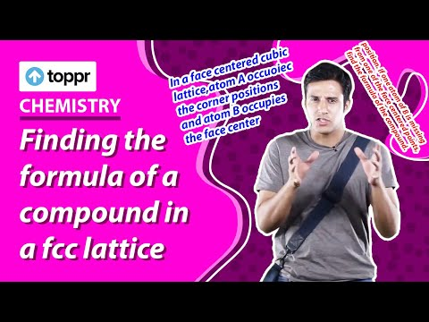 Solid State - Finding the formula of a compound in a fcc lattice