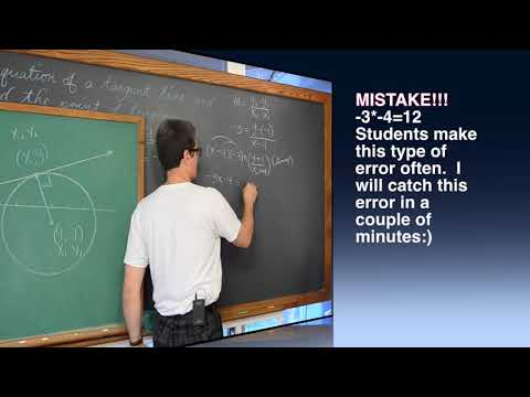 Given a Tangent Line & Circle Find the Point of Tangency
