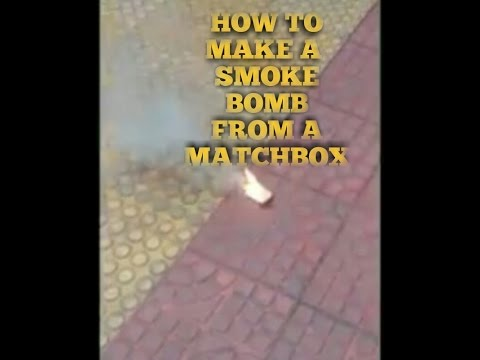 How to make a smoke bomb from a matchbox.