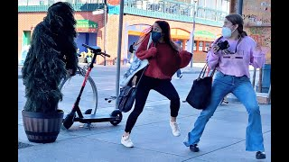 Her Reaction was AMAZING| Bushman Prank | Funny Reactions