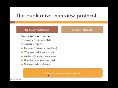 types of interview protocols