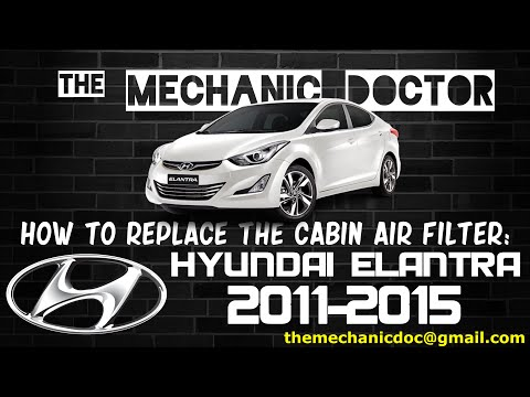 How to Replace the Cabin Air Filter: Hyundai Elantra 2011, 2012, 2013, 2014, 2015.